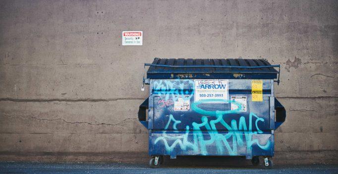 afvalbak graffiti